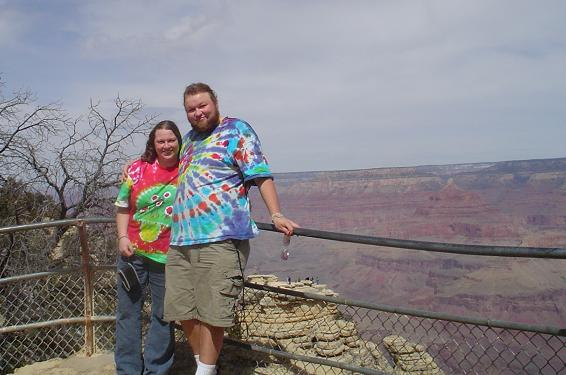 Erik & Amanda at the Grand Canyon, March 2006