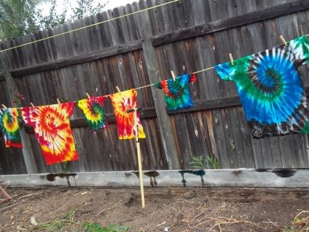 Danielle's Tie Dyes.