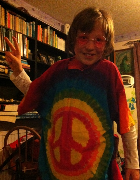Kevin's Son in Tie Dye.