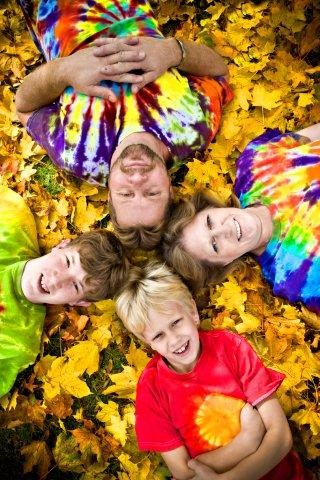 Tie Dye Family Photo.