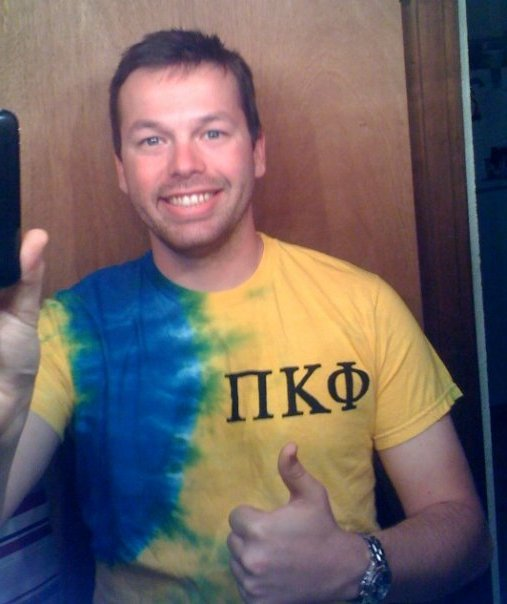 Pi Kappa Phi Fraternity Tie Dye T-Shirt.