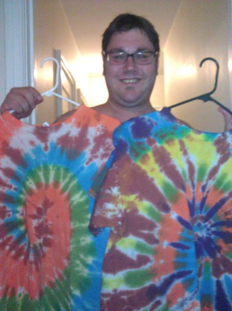 Ryan D. and his tie dyes.