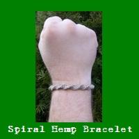 Spiral Hemp Bracelet.