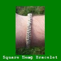 Square Hemp Bracelet.