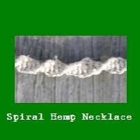 Spiral Hemp Necklace.