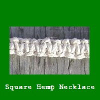 Square Hemp Necklace.