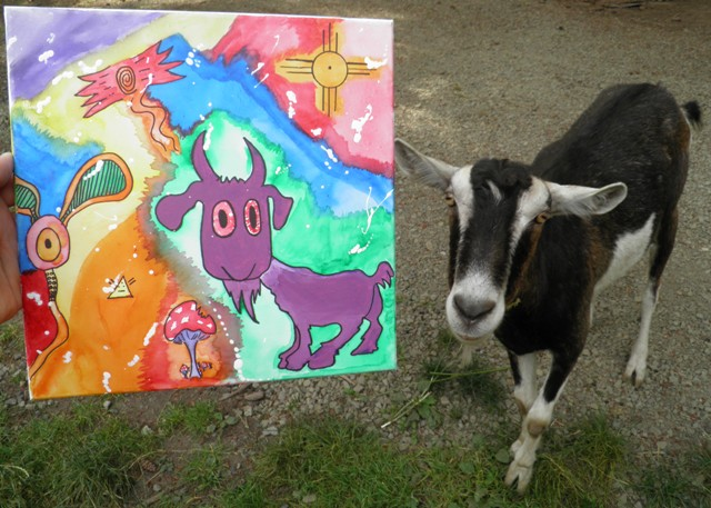 The Purple Goat, By Rod Wizzle, 2013.