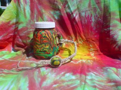 Polymer Clay Jar.