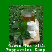 Green Tea with Peppermint Soap.