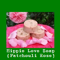 Hippie Love Soap (Patchouli Rose).