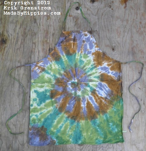 Camouflage Spiral Tie Dye Apron.