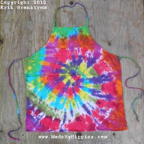 Rainbow Spiral Tie Dye Apron.