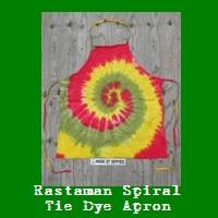 Rastaman Spiral Tie Dye Apron.