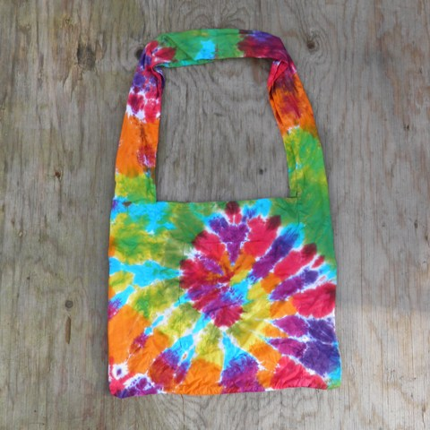 Rainbow Spiral Tie Dye Shoulder Bag.