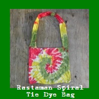 Rastaman Spiral Tie Dye Shoulder Bag.