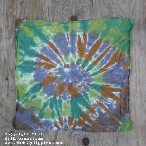 Camouflage Spiral Tie Dye Bandanna.