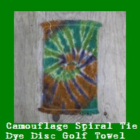 Camouflage Tie Dye Disc Golf Towel.