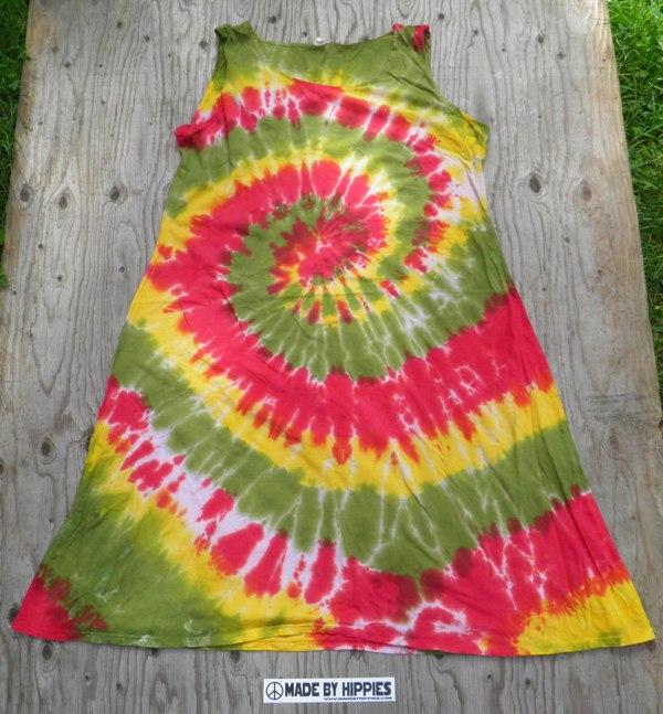 Rastawoman Spiral Tie Dye Dress.