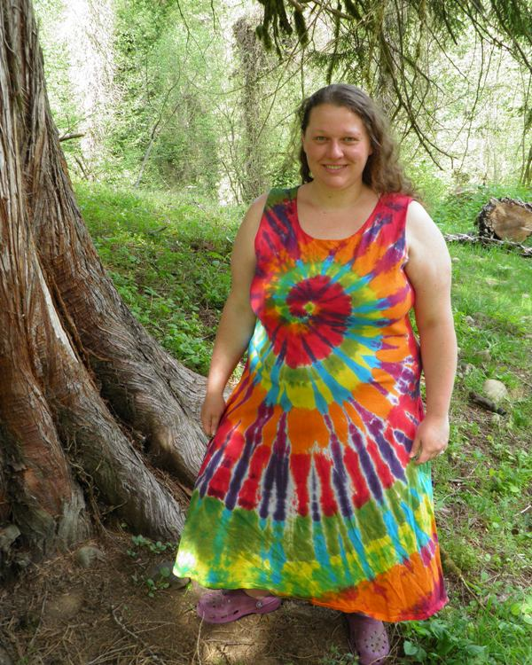 Rainbow Spiral Tie Dye Dress.