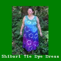 Shibori Tie Dye Dress.