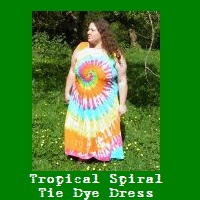 Tropical Spiral Tie Dye Dress.