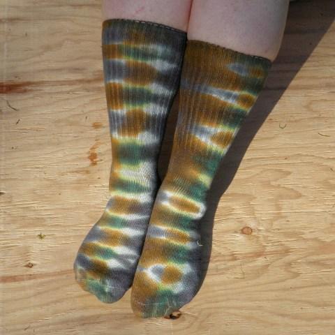 Camouflage Tie Dye Socks.