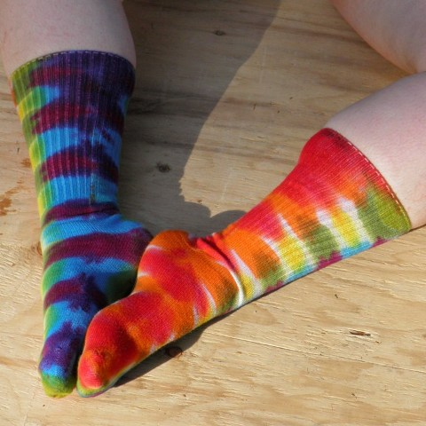 Rainbow Tie Dye Socks.