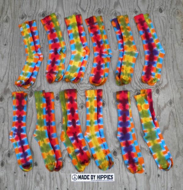 Wholesale Rainbow Tie Dye Socks.