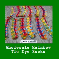 Wholesale Rainbow Tie Dye Socks.