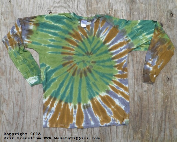 Camouflage Spiral Tie Dye Long Sleeve Shirt