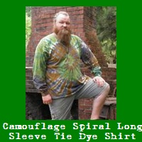 Camouflage Spiral Tie Dye Long Sleeve Shirt.