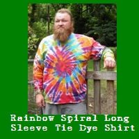 Rainbow Spiral Tie Dye Long Sleeve Shirt.