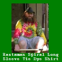Rastaman Spiral Tie Dye Long Sleeve Shirt.