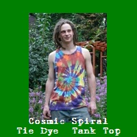 Cosmic Spiral Tie Dye Tank Top.