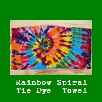 Rainbow Spiral Tie Dye Beach Towel.