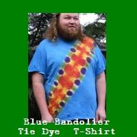 Blue Bandolier Tie Dye T-Shirt.