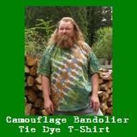 Green Camo Bandolier Tie Dye T-Shirt.