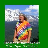 Rainbow Bandolier Tie Dye T-Shirt.