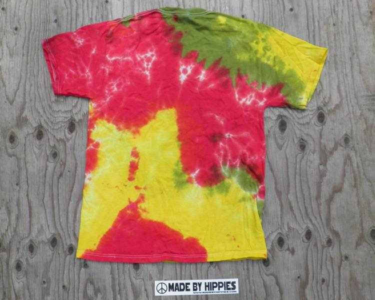 Rastaman Peace Sign Tie Dye T-Shirt.