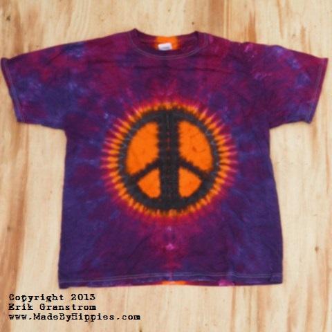 Peace Sign Tie Dye T-Shirt.