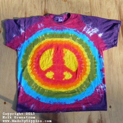 Peace Sign Tie Dye T-Shirt.