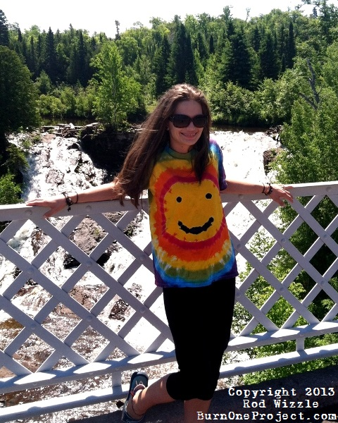 Rainbow Smiley Face Tie Dye T-Shirt.