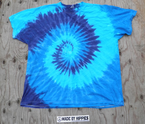 The Blues Spiral Tie Dye T-Shirt.