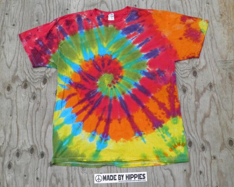 Rainbow Spiral Tie Dye T-Shirt.