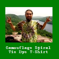 Wholesale Camouflage Spiral Tie Dye T-Shirt.