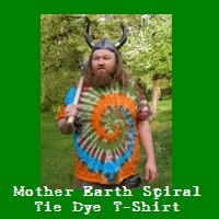 Mother Earth Spiral Tie Dye T-Shirt.