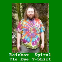 Wholesale Rainbow Spiral Tie Dye T-Shirt.