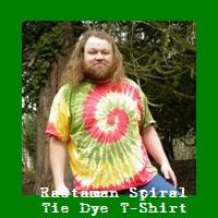 Rastaman Spiral Tie Dye T-Shirt.