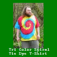 Wholesale Tri Color Spiral Tie Dye T-Shirt.
