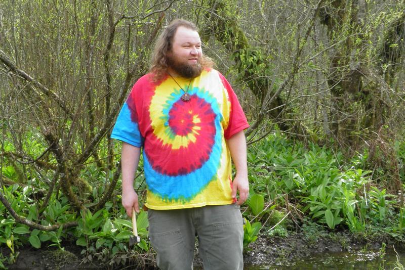 Tri Color Spiral Tie Dye T-Shirt.